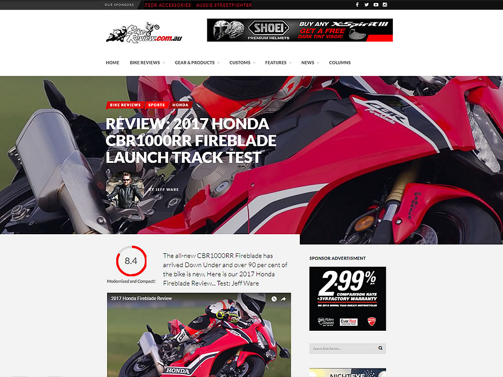 motorcycle website specialist australia