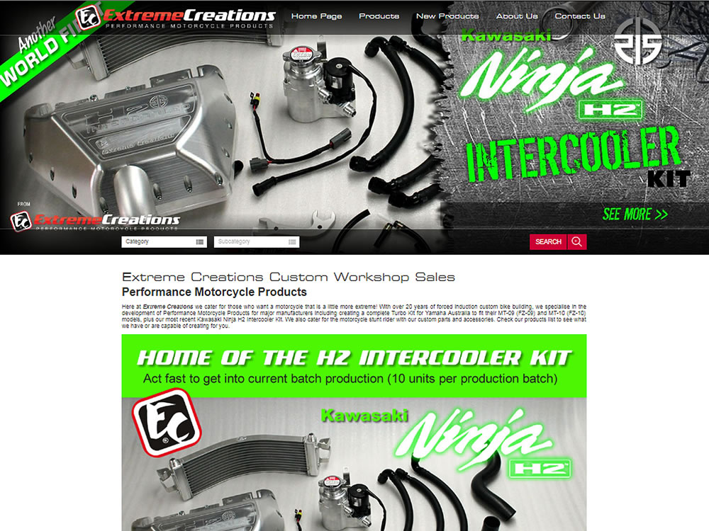 Online sales website developer